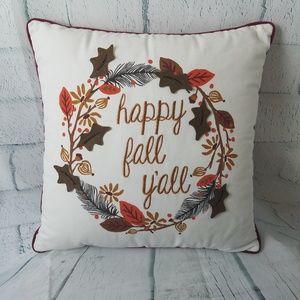Happy Fall Yall Pillow